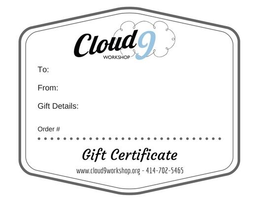 gift certificate cloud9workshop